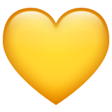 Yellow Heart on WhatsApp 2.19.352
