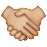 Handshake: Medium-Light Skin Tone on WhatsApp 2.20.198.15