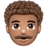 Man: Medium Skin Tone, Curly Hair on WhatsApp 2.20.198.15