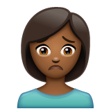 Person Frowning: Medium-Dark Skin Tone on WhatsApp 2.20.198.15