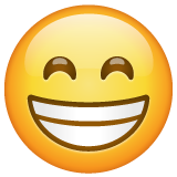 Beaming Face with Smiling Eyes on WhatsApp 2.20.206.24