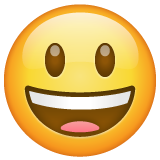 Grinning Face with Big Eyes on WhatsApp 2.20.206.24