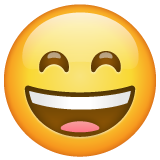 Grinning Face with Smiling Eyes on WhatsApp 2.20.206.24