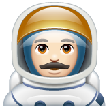 Man Astronaut: Light Skin Tone on WhatsApp 2.20.206.24