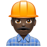 Man Construction Worker: Dark Skin Tone on WhatsApp 2.20.206.24