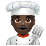 Man Cook: Dark Skin Tone on WhatsApp 2.20.206.24