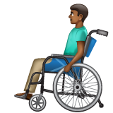 Man in Manual Wheelchair: Medium-Dark Skin Tone on WhatsApp 2.20.206.24