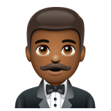 Man in Tuxedo: Medium-Dark Skin Tone on WhatsApp 2.20.206.24