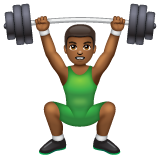 Man Lifting Weights: Medium-Dark Skin Tone on WhatsApp 2.20.206.24
