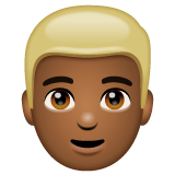 Man: Medium-Dark Skin Tone, Blond Hair on WhatsApp 2.20.206.24