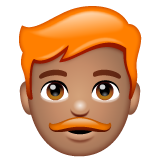 Man: Medium Skin Tone, Red Hair on WhatsApp 2.20.206.24