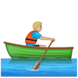Man Rowing Boat: Medium-Light Skin Tone on WhatsApp 2.20.206.24