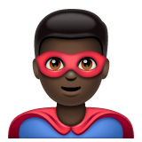 Man Superhero: Dark Skin Tone on WhatsApp 2.20.206.24