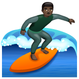 Man Surfing: Dark Skin Tone on WhatsApp 2.20.206.24