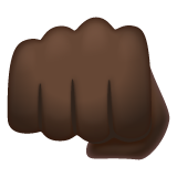 Oncoming Fist: Dark Skin Tone on WhatsApp 2.20.206.24