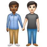People Holding Hands: Medium-Dark Skin Tone, Light Skin Tone on WhatsApp 2.20.206.24
