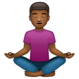 Person in Lotus Position: Medium-Dark Skin Tone on WhatsApp 2.20.206.24