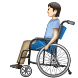 Person in Manual Wheelchair: Light Skin Tone on WhatsApp 2.20.206.24