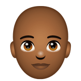 Person: Medium-Dark Skin Tone, Bald on WhatsApp 2.20.206.24