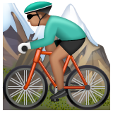 Person Mountain Biking: Medium Skin Tone on WhatsApp 2.20.206.24
