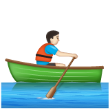 Person Rowing Boat: Light Skin Tone on WhatsApp 2.20.206.24