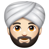 Person Wearing Turban: Light Skin Tone on WhatsApp 2.20.206.24