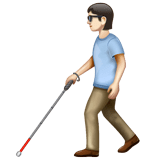 Person with White Cane: Light Skin Tone on WhatsApp 2.20.206.24