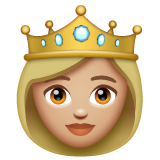 Princess: Medium-Light Skin Tone on WhatsApp 2.20.206.24