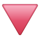 Red Triangle Pointed Down on WhatsApp 2.20.206.24