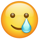 Smiling Face with Tear on WhatsApp 2.20.206.24