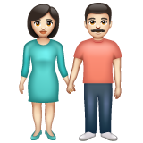 Woman and Man Holding Hands: Light Skin Tone on WhatsApp 2.20.206.24