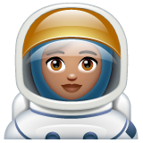 Woman Astronaut: Medium Skin Tone on WhatsApp 2.20.206.24