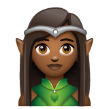 Woman Elf: Medium-Dark Skin Tone on WhatsApp 2.20.206.24