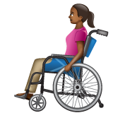 Woman in Manual Wheelchair: Medium-Dark Skin Tone on WhatsApp 2.20.206.24