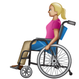 Woman in Manual Wheelchair: Medium-Light Skin Tone on WhatsApp 2.20.206.24