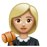 Woman Judge: Medium-Light Skin Tone on WhatsApp 2.20.206.24