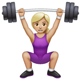 Woman Lifting Weights: Medium-Light Skin Tone on WhatsApp 2.20.206.24