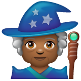 Woman Mage: Medium-Dark Skin Tone on WhatsApp 2.20.206.24