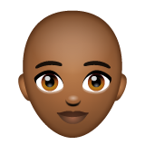 Woman: Medium-Dark Skin Tone, Bald on WhatsApp 2.20.206.24