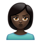 Woman Pouting: Dark Skin Tone on WhatsApp 2.20.206.24