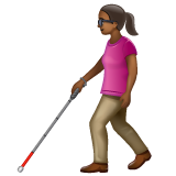 Woman with White Cane: Medium-Dark Skin Tone on WhatsApp 2.20.206.24