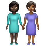 Women Holding Hands: Dark Skin Tone, Medium-Dark Skin Tone on WhatsApp 2.20.206.24