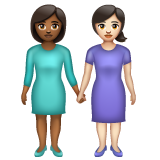 Women Holding Hands: Medium-Dark Skin Tone, Light Skin Tone on WhatsApp 2.20.206.24