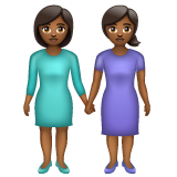Women Holding Hands: Medium-Dark Skin Tone on WhatsApp 2.20.206.24