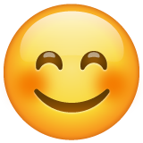 Smiling Face with Smiling Eyes on WhatsApp 2.21.16.20