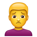 Man Frowning on WhatsApp 2.21.11.17