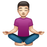 Person in Lotus Position: Light Skin Tone on WhatsApp 2.21.11.17