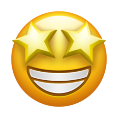 IMAGE(https://emojipedia-us.s3.dualstack.us-west-1.amazonaws.com/thumbs/240/emojipedia/132/grinning-face-with-star-eyes_1f929.png)