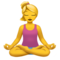 Person in Lotus Position on Apple