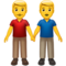 Gay Couple Men Holding Hands on Google Android Android